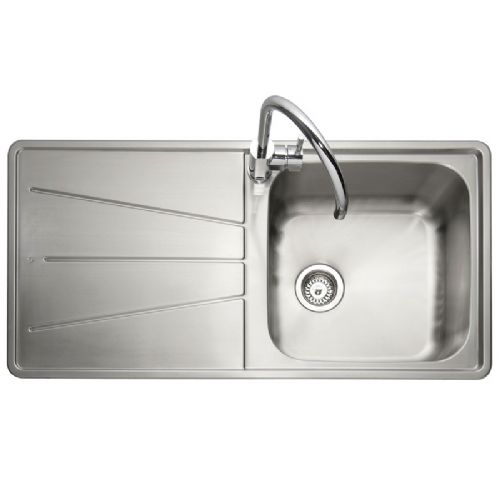Caple Blaze 100 Stainless Steel Single Bowl Inset Kitchen Sink